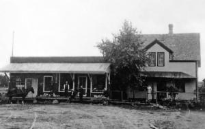 Gilbert Wickman's meat market, circa 1910
